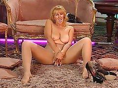 Blonde, British, Mature, MILF, Stockings