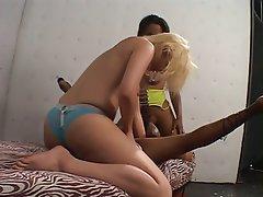 Interracial, Lesbian, Threesome, Strapon