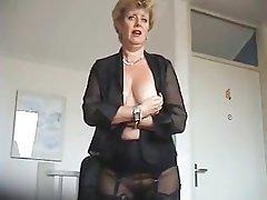 Lingerie, MILF, Stockings, Mature