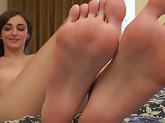 Brunette, Foot Fetish, Hairy, Small Tits, Softcore