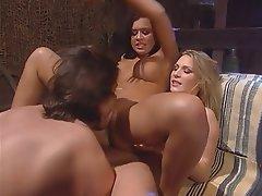 Blowjob, Big Boobs, Threesome, Blonde